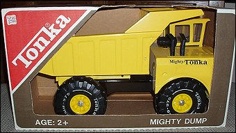 1975 Mighty Dump Packaging